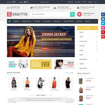 Vina Sagitta - Πρότυπο eShop σε Joomla (Virtuemart, Joomshopping)
